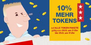 FLASH Token Ausverkauf: 10% Mehr Tokens auf alle Token Pakete