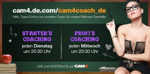 CAM4  Webcam Coaching Termine & Themen im August 2016