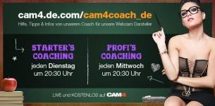 CAM4  Webcam Coaching Termine & Themen im August 2016