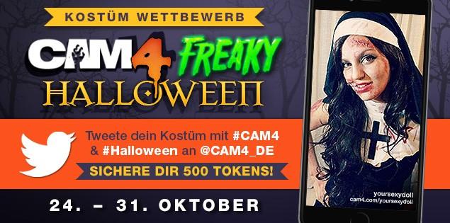Sichere dir $50 beim CAM4 Halloween Kostüm Foto Wettbewerb