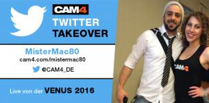 Nicht verpassen: Twitter Takeover mit MisterMac80 auf der Venus 2016 (am Samstag)