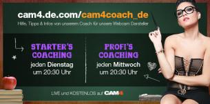 Webcam Coaching Termine & Themen im April 2017