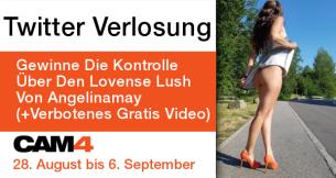 Twitter Verlosung: Gewinne Die Kontrolle Über Angelinamay's Lovense Lush (+Verbotenes Gratis Video)